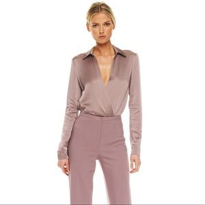 Michael Kors Bodysuit Surplice Dusk | Large